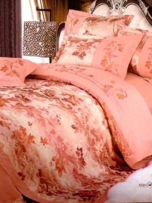 110-47 комплект постельного белья Сатин с вышивкой с отделкой габеленом Valtery Евро