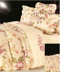 110-37 комплект постельного белья Сатин с вышивкой с отделкой габеленом Valtery Евро