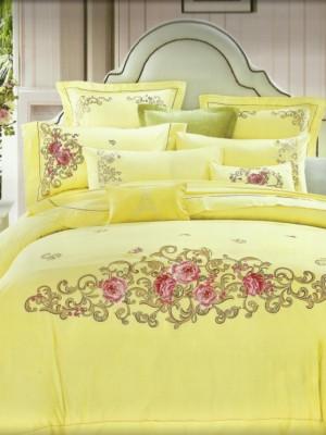 100-57комплект постельного белья Сатин с вышивкой Valtery Евро