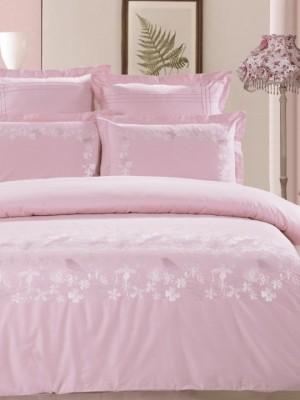 100-56комплект постельного белья Сатин с вышивкой Valtery 2х спальный