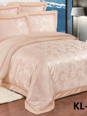Комплект постельного белья Сатин-жаккард (размер Евро) KL-051