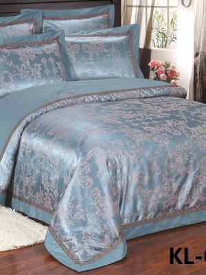 Комплект постельного белья Сатин-жаккард (размер Евро) KL-041