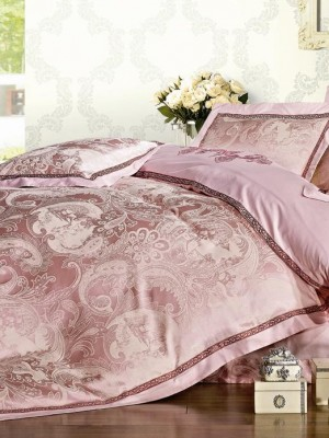Комплект постельного белья Сатин-жаккард (размер Семейный) KL-15