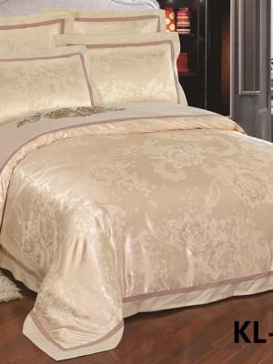 Комплект постельного белья Сатин-жаккард (размер Евро) KL-045
