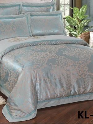 Комплект постельного белья Сатин-жаккард (размер Евро) KL-044