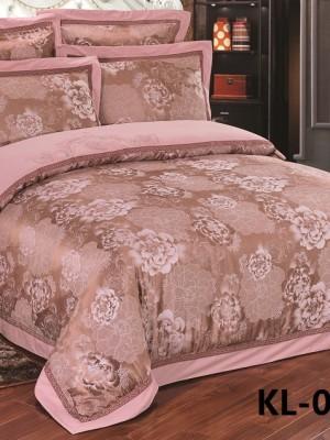 Комплект постельного белья Сатин-жаккард (размер Семейный) KL-56