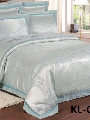 Комплект постельного белья Сатин-жаккард (размер Евро) KL-035