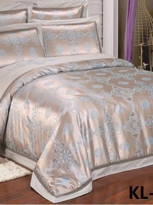 Комплект постельного белья Сатин-жаккард (размер Евро) KL-042
