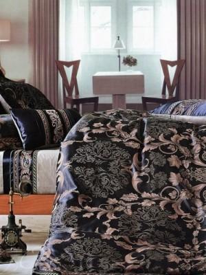 Набор 9 предметов постельного белья сатин-жаккард Евро CSN075-9