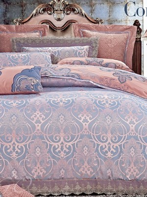 Комплект постельного белья сатин-жаккард Евро TJ112-429 (456)