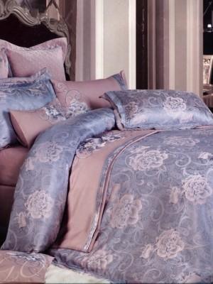 Комплект постельного белья сатин-жаккард Евро TJ300-18