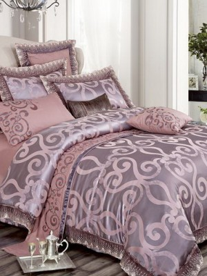 Комплект постельного белья сатин-жаккард Евро TJ300-54