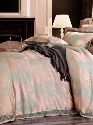 Комплект постельного белья сатин-жаккард Евро TJ300-55