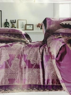 Комплект постельного белья сатин-жаккард Евро TJ300-58