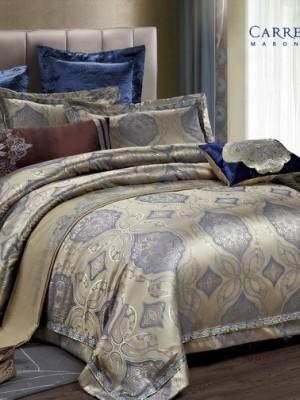 Комплект постельного белья сатин-жаккард Евро TJ300-60