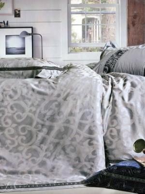 Набор 9 предметов постельного белья сатин-жаккард Евро CSN076-9