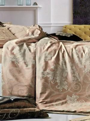 Набор 9 предметов постельного белья сатин-жаккард Евро CSN077-9