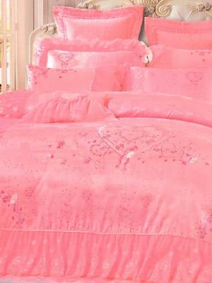 Набор 10 предметов постельного белья сатин-жаккард Евро CSN078-10