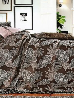 Комплект постельного белья сатин-жаккард Евро TJ300-1