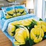 Цветы постельное бельё