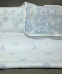 "Одеяло маленькое ""Барвинок"" 100% х/б 100х140 бело-голубое"