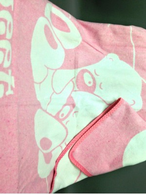 "Одеяло маленькое ""Сони"" 100% х/б 100х140 бело-розовое"