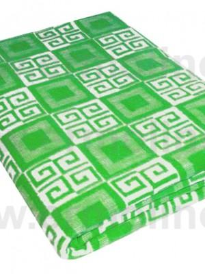 Зеленое Байковое одеяло жаккард 215х150 100% х/б