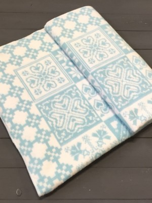 Серо-голубой ( Уют ) Байковое жаккард 215х150 100% х/б арт. 5772ВЖК Ермолино одеяло