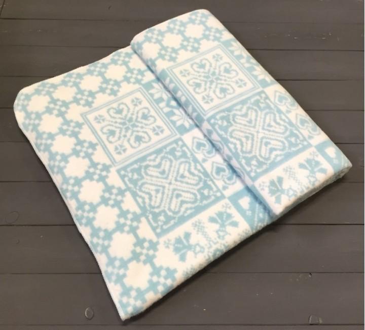 Байковое одеяло жаккард 215х150 100% х/б