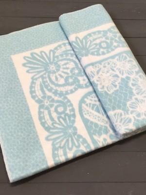 Серо-голубой ( Кружево ) Байковое жаккард 215х150 100% х/б арт. 5772ВЖК Ермолино одеяло