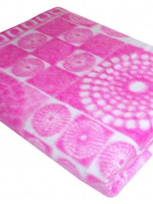 Розовое Байковое жаккард 215х150 арт. 5772ВЖ 75%+25%вискоза х/б Ермолино одеяло