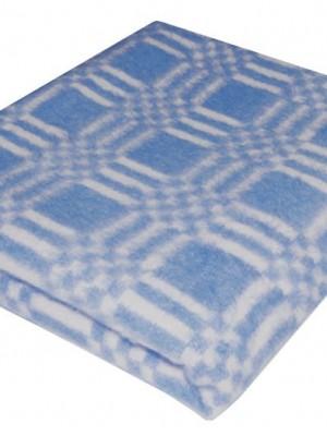 Голубое Байковое 100х140 арт. 57-3ЕТ 90% х/б Ермолино одеяло