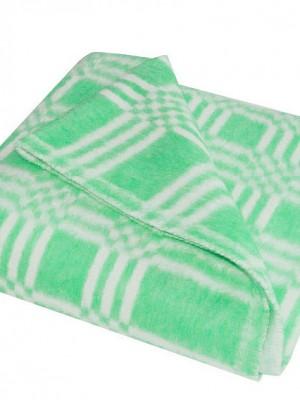 Зеленое Байковое 100х140 арт. 57-3ЕТ 90% х/б Ермолино одеяло