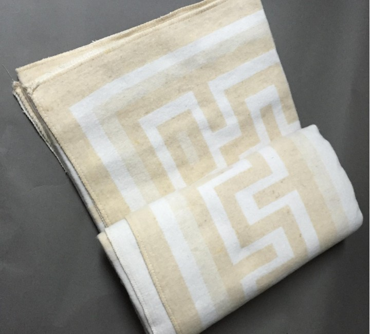 "Одеяло ""Греция"" 100% х/б 140х205 бел-беж Vladi байковое VLADI Одеяла ""байковые"""