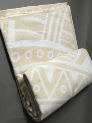 "Одеяло ""Перу"" 100% х/б 140х205 бел-беж Vladi байковое"