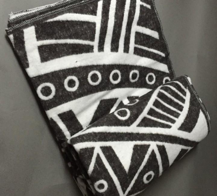 "Одеяло ""Перу"" 100% х/б 140х205 бел-кор Vladi байковое VLADI Одеяла ""байковые"""