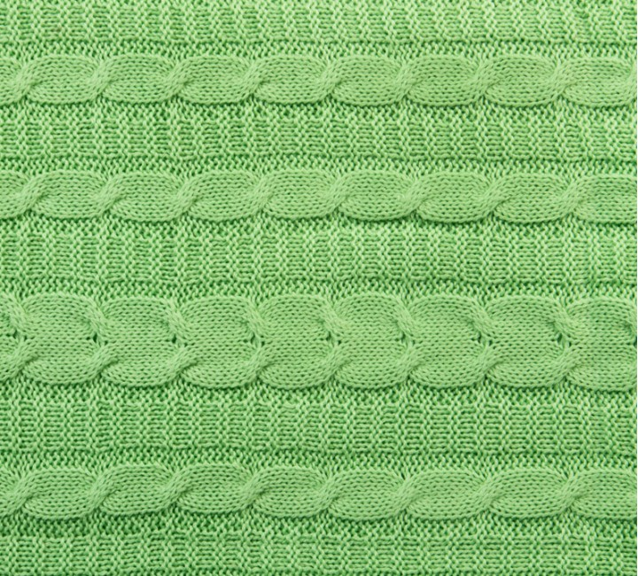 Плед вязаный цвета Ментол ТексДизайн Покрывала и Пледы