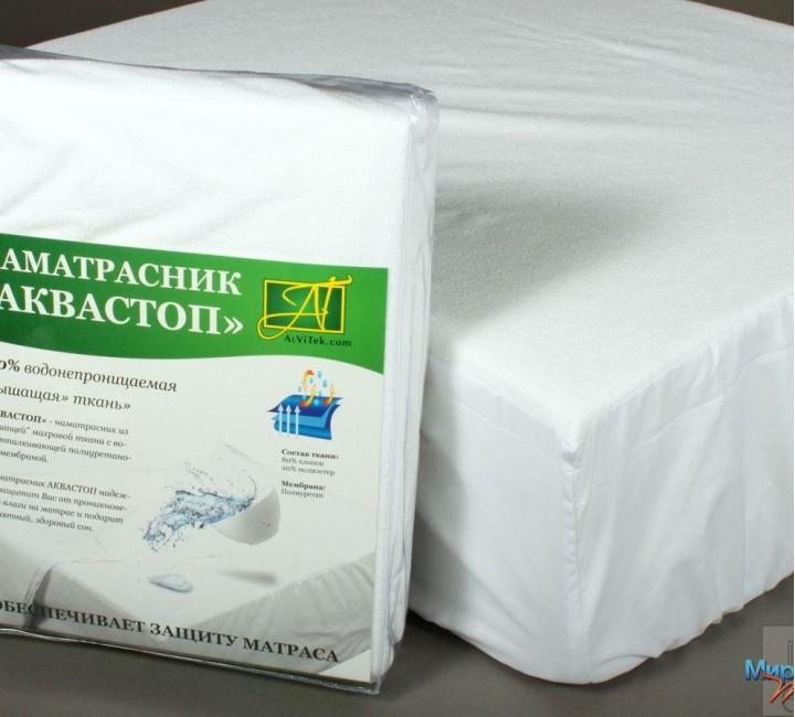 Простыня на резинке Аквастоп 180х200 Альвитек Матрасы, наматрасники