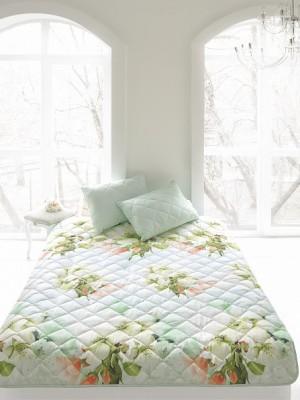 """Комплект ( 1 подушка, одеяло-покрывало) """"Яркие цветы"""""""