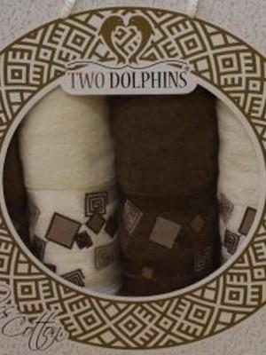 8587 Шоколад-Крем Класс Коттон (50х90х2шт+70х140х2шт ) в коробке TWO DOLPHINS арт.8587