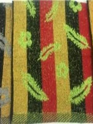 341-1 Перья, цветы, полосы М 32х70 (12шт) Полотенце Winnipool