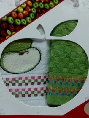 Яблоко Фрукты М ( 40х60 ) х 2шт арт.029 в коробке набор кухонный Атлас Текстиль