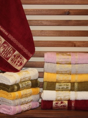 8381 Towel Бамбук 50х90 ( 6шт ) 480гр.полотенце TWO DOLPHINS