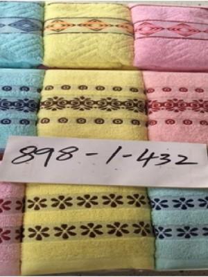 898-1 Цветочки М 34х72 (12шт) Полотенце Winnipool