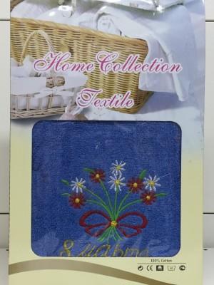 67-385N Голубой Букет Ромашек 8 МАРТА М ( 50х100+70х140) в коробке Набор полотенец Winnipool