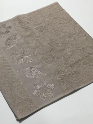 Бежевый Cotton ( Бабочка ) 50х90 хлопок М полотенце (1шт) Фиеста
