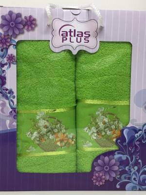 Травяной Корзинка с цветами М ( 50х90+70х140) в коробке Атлас Текстиль