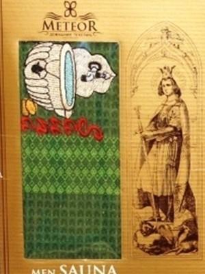 Зеленый Вафельная Сауна мужская арт.8345 Килт 75х150 в коробке Метеор