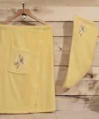1941 Желтый NORA Сауна жен. махра в подарочной упаковке Карна