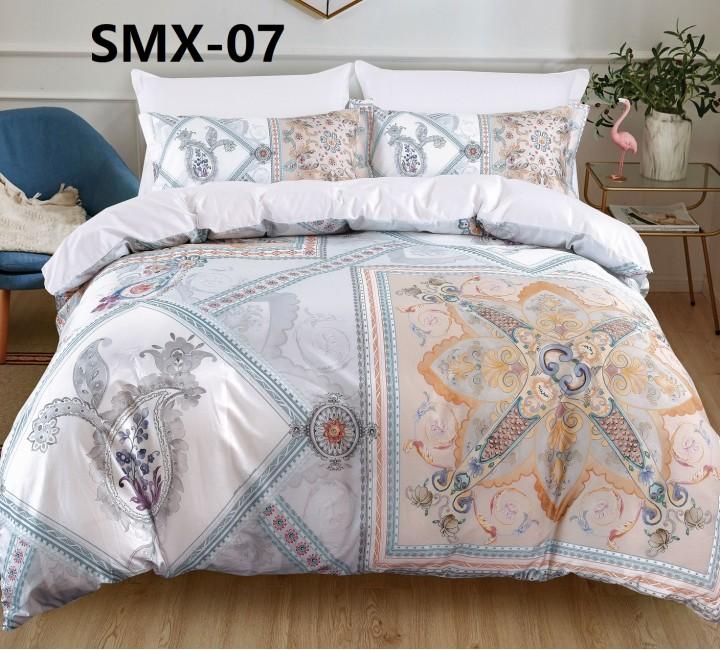 SMX-07 Комплект постельного белья Евро размера из Сатина премиум